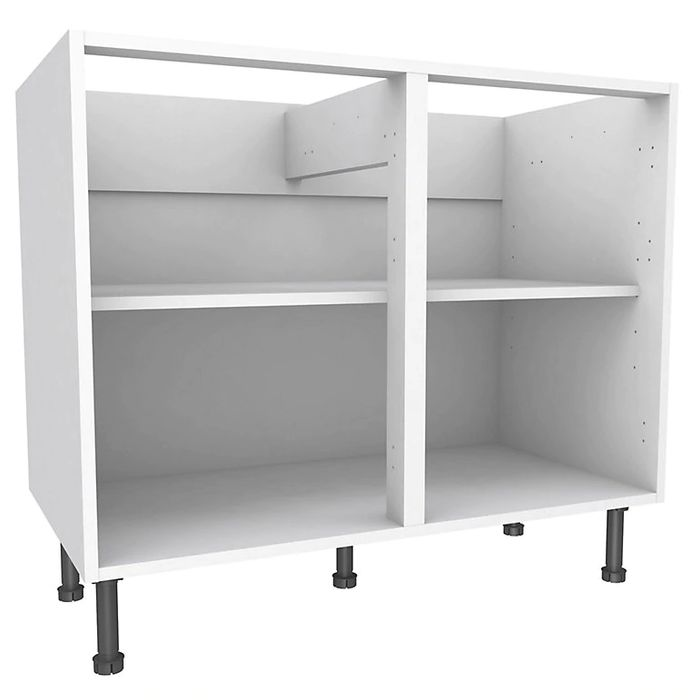 Cooke & Lewis White Standard Base Cabinet, (W)1000mm