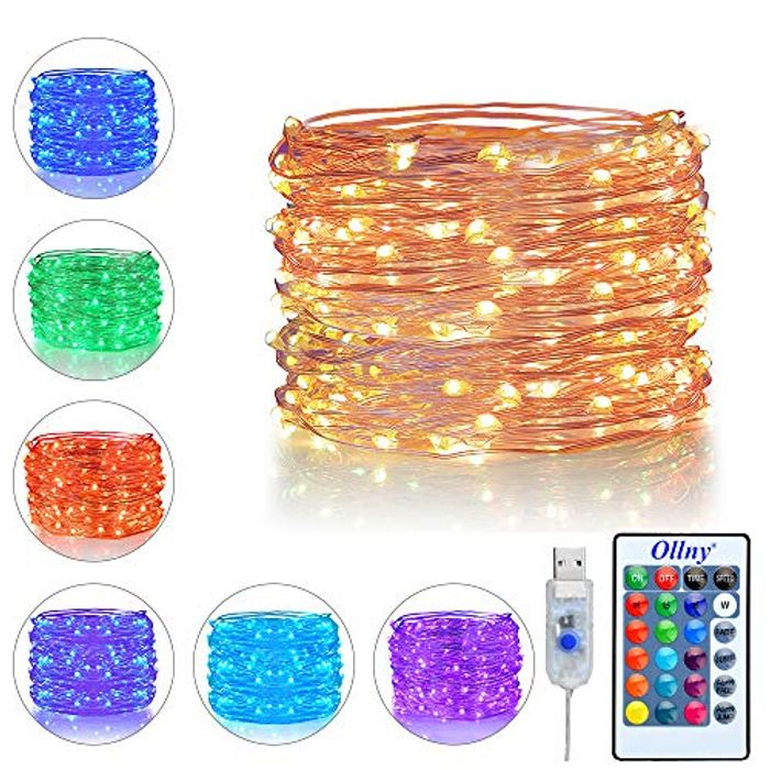 LED String Lights 10m 100 LEDs USB Powered 16 Multi Colors