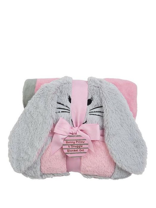 Bunny Blanket and Push Pillow Giftset