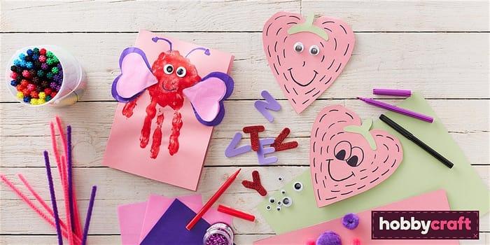 Free Valentine's Day Kids' Card Making at Hobbycraft
