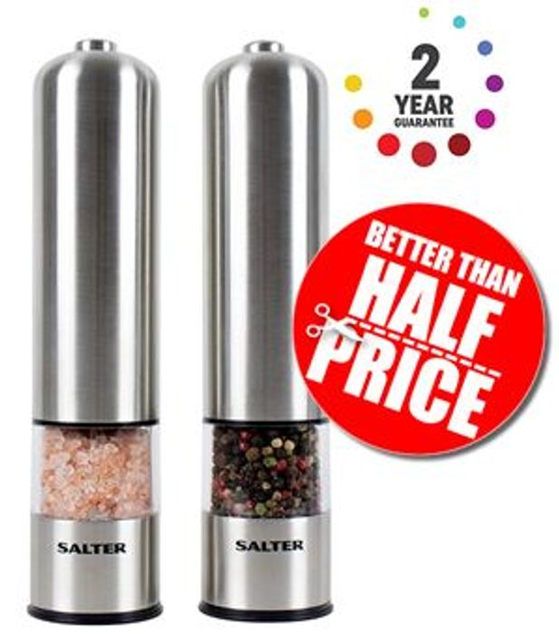 Amazon Deal of the Day - Salter Electric Salt and Pepper Mill Grinder Set