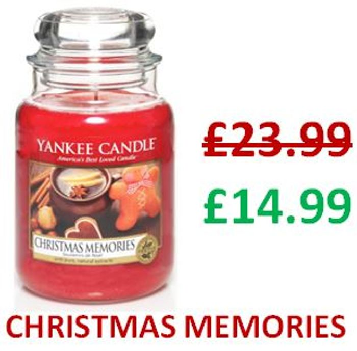 SAVE £9 - Yankee Candle Large Jar - CHRISTMAS MEMORIES
