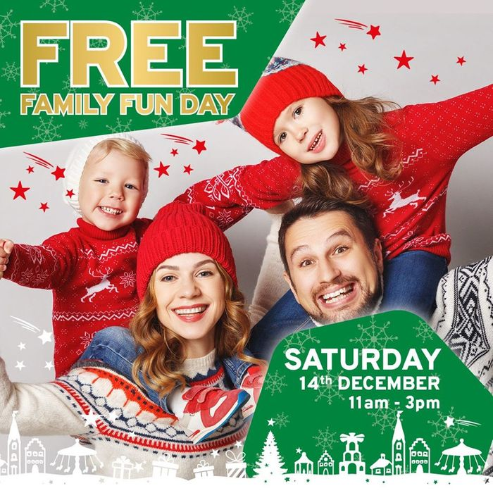 Free Family Fun Day at JTF Stores on 14th December