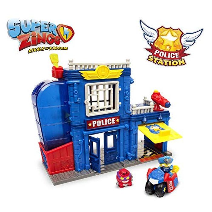 SUPERZINGS - Police Station, with 2 Exclusive SuperZings Figurines - 46% Off!