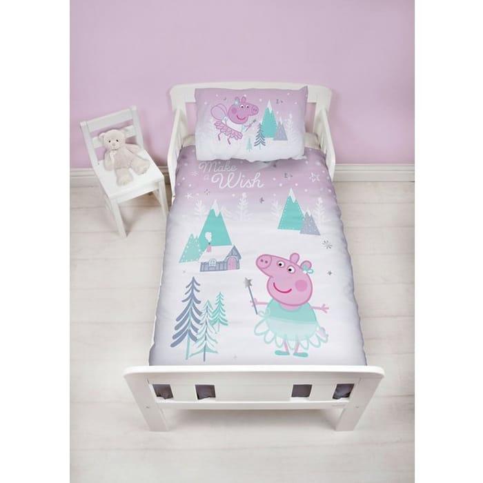 Peppa Pig Sugarplum Christmas Bedding Set - Toddler - Save £3.50!