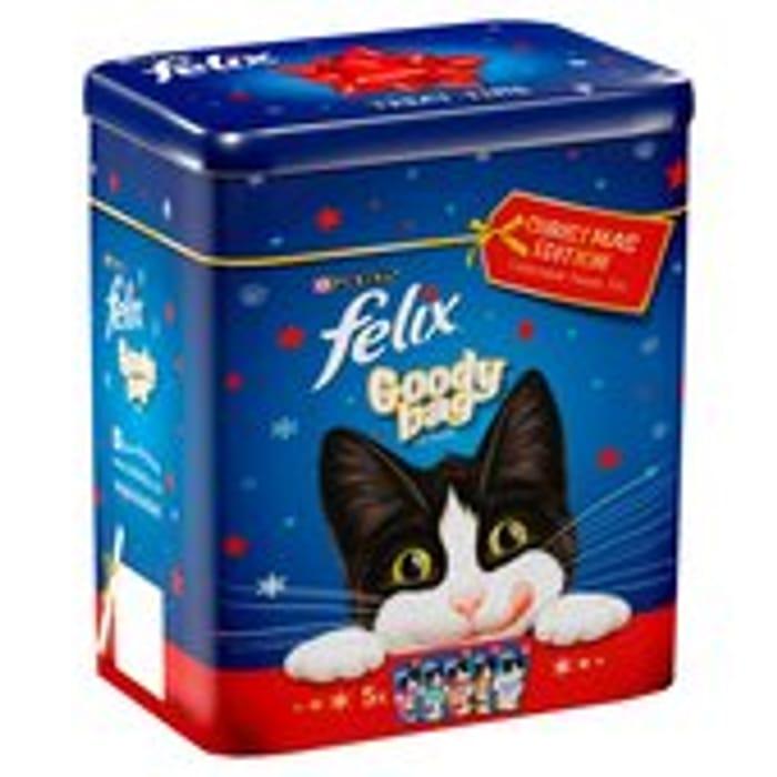Felix Goody Bags Christmas Edition Treats Tin 300g - Save £1!