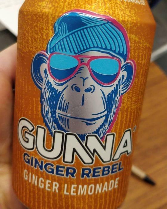 Free Gunna Ginger Lemonade Soft Drink 330ml