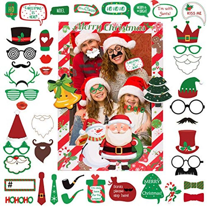 50% off Christmas Photo Booth Props with Photo Frame