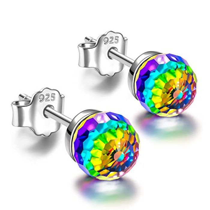 LD + £5 Promo, Stud Earrings, 925 Sterling Silver Swarovski