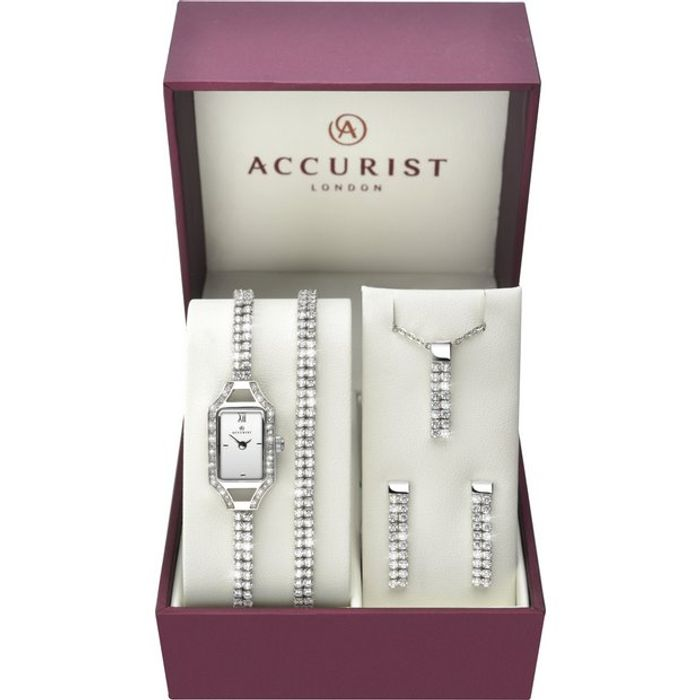 Accurist Ladies' Stone Set Watch and Jewellery Gift Set - Save £50!