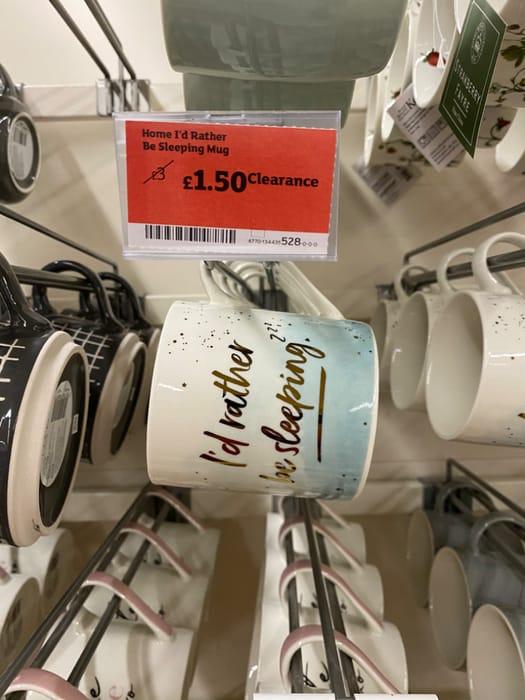 Id Rather Be Sleeping Mug - Half Price