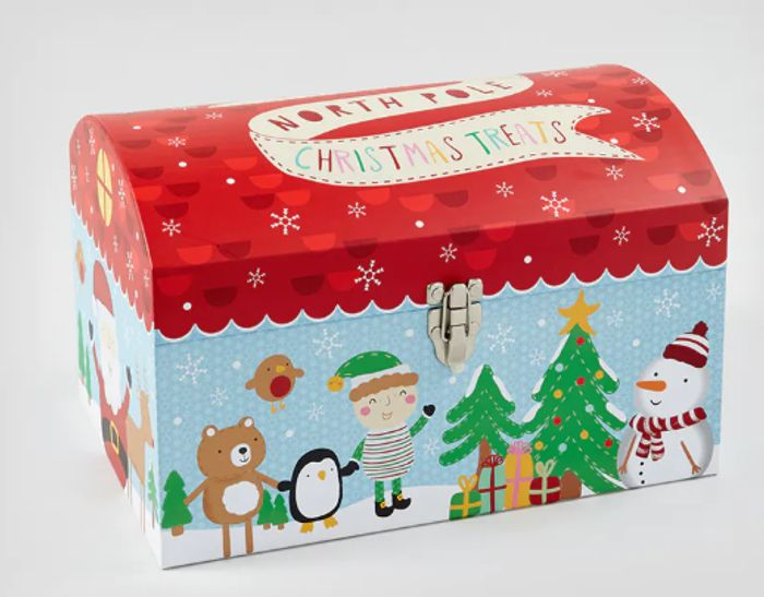 Christmas Eve Gift Box with Metal Clasp - 1/2 Price Now £5 + Free C&C