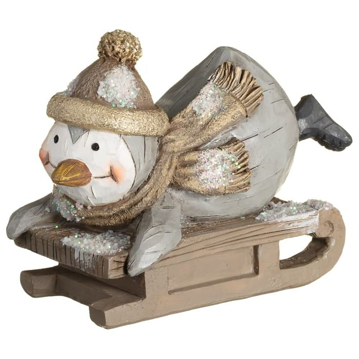 Woodland Animal on Sleigh - Penguin