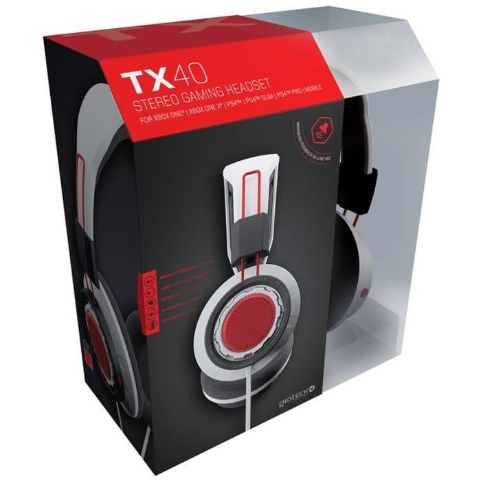 GioTeck TX-40 Xbox One, PS4, PC Headset - White