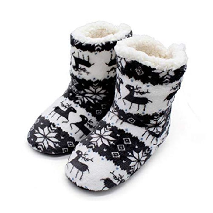 Christmas Fleecy Slipper Boots