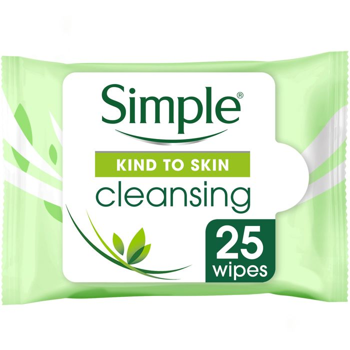 Simple Kind to Skin Cleansing Facial Wipes 25'S