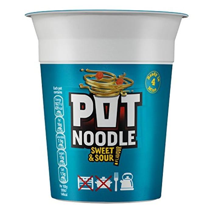 Pot Noodle Sweet and Sour Noodles, 12 X 90g - Amazon Pantry