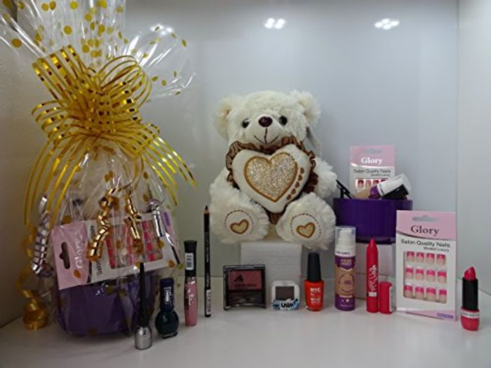 Best Price! Valentines Gift Hamper for Her 12pc Make up & Teddy Bear Gift Hamper
