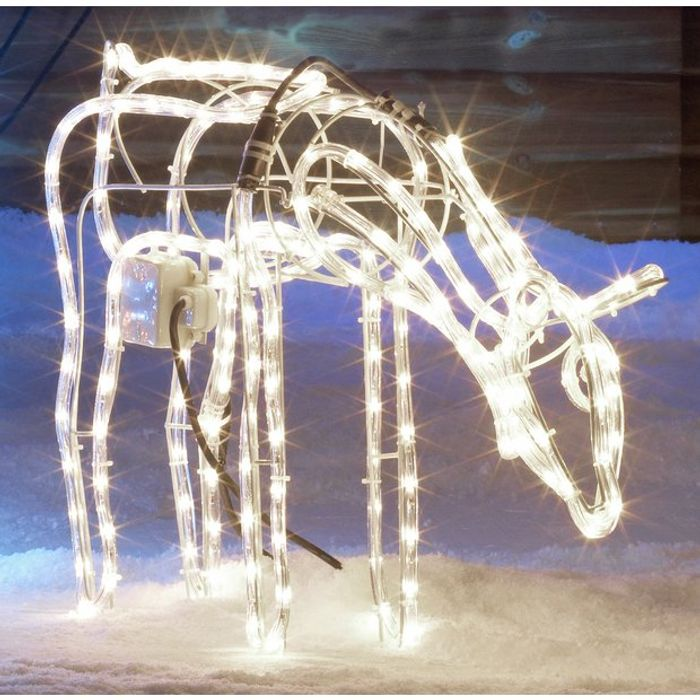 Argos Home LED Animated Grazing Reindeer - Bright White