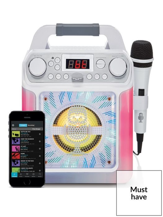 *SAVE £20* Groove Mini Disco Light MP3+G Karaoke with Voice Changer Effects