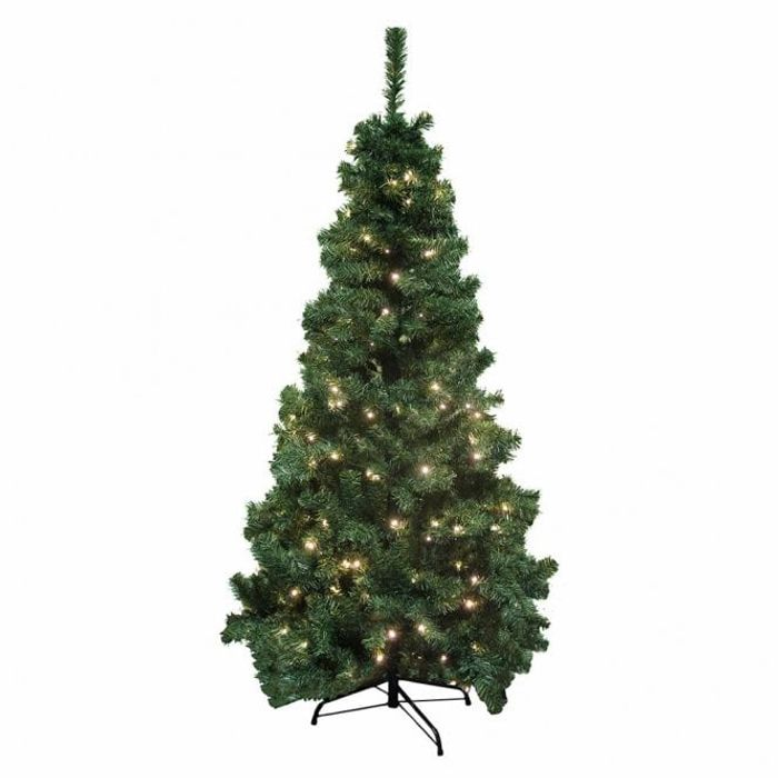 6ft Luxury Pre Lit Pine Tree