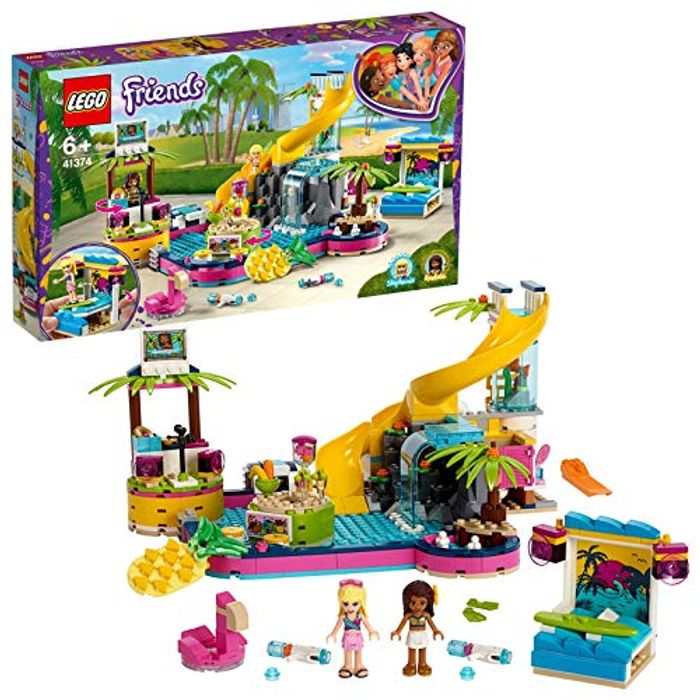 LEGO 41374 Friends Andreas Pool Party Set