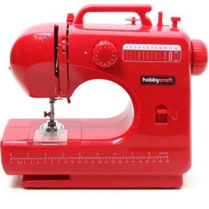 Hobbycraft Red Midi Sewing Machine