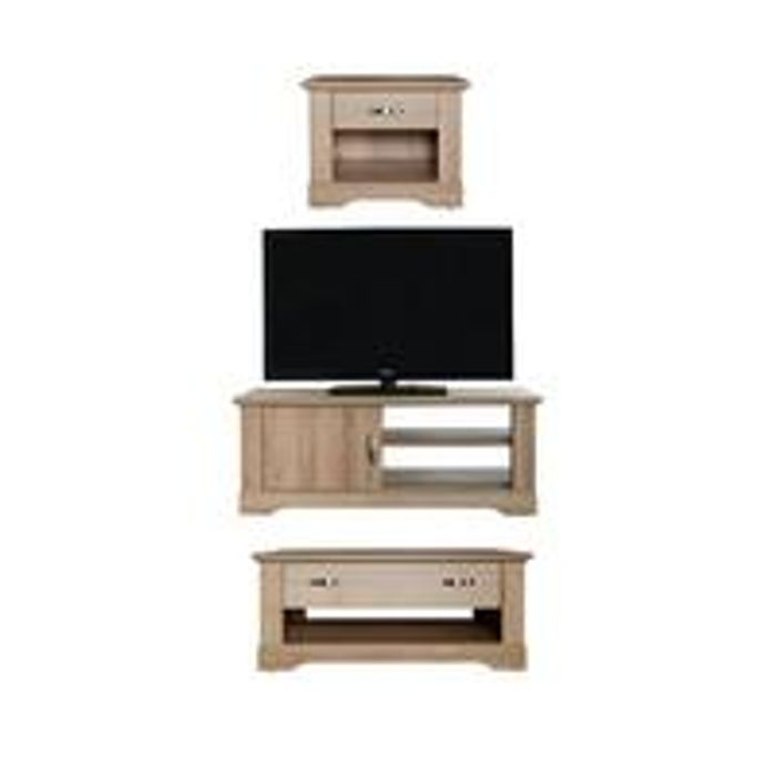 Best Price! Cornwall 3 Piece Package TV Unit, Coffee Table and Lamp Table