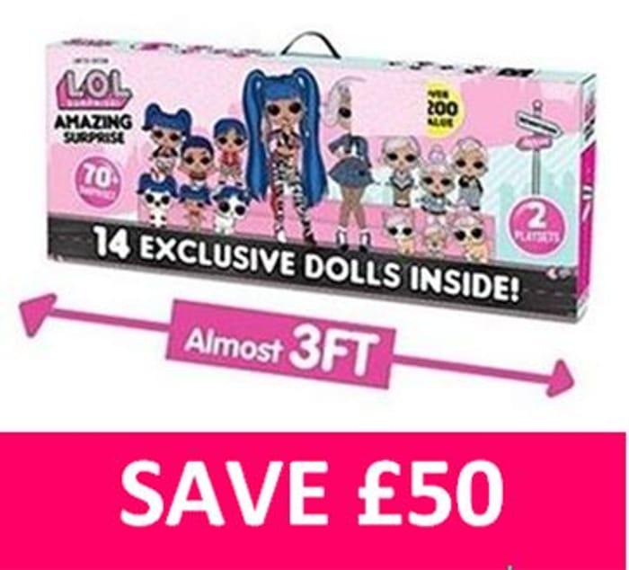 SAVE £50! L.O.L. Surprise! LOL Amazing Surprise with 14 Dolls & 70+ Surprises