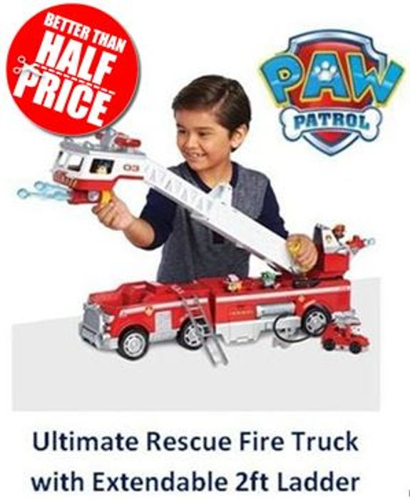 Paw Patrol Ultimate Rescue Fire Truck - BETTER THAN HALF PRICE! *4.7 STARS*