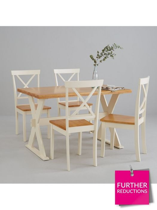 *SAVE £180* New Axxon 120 Cm Dining Table + 4 Chairs