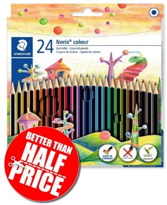 AMAZON BARGAIN! 24 Staedtler Noris Colour Colouring Pencils - 60% Off!