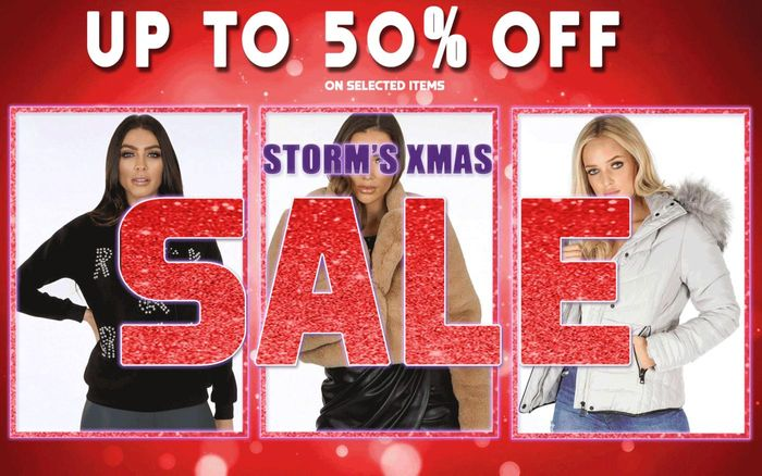 Up to 50% off at Storms Christmas Sale