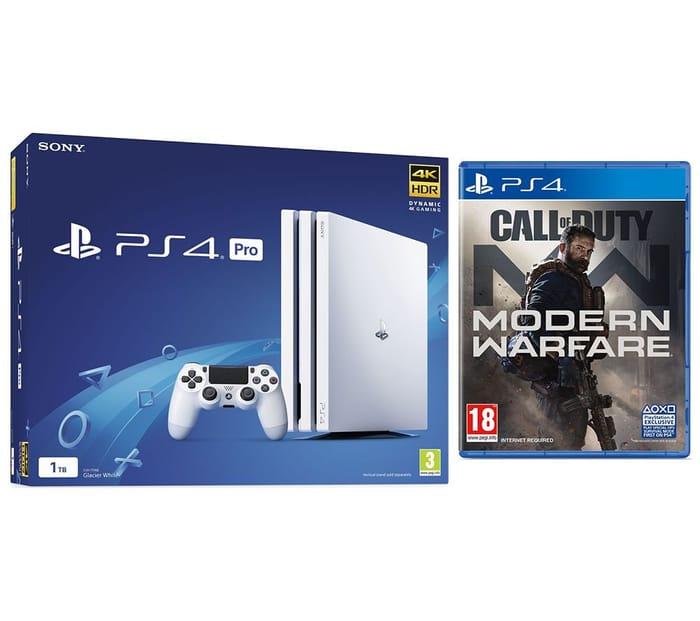 PS4 Pro 1TB + Call of Duty: Modern Warfare (2019) Bundle - White £249