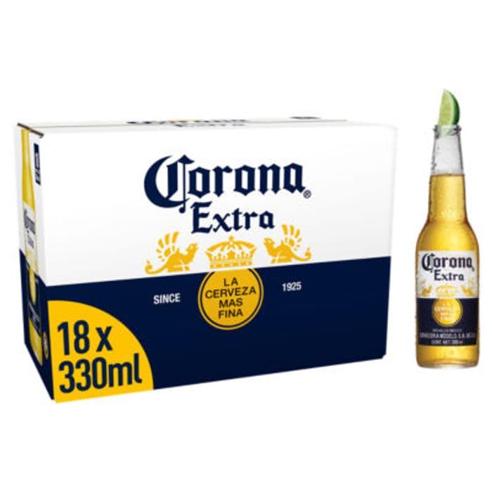 Corona Extra Premium Lager Beer Bottles 18x330
