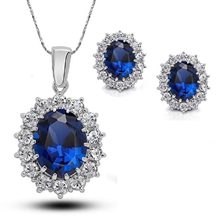 Best Price! Sapphire Style Jewellery Set at Amazon