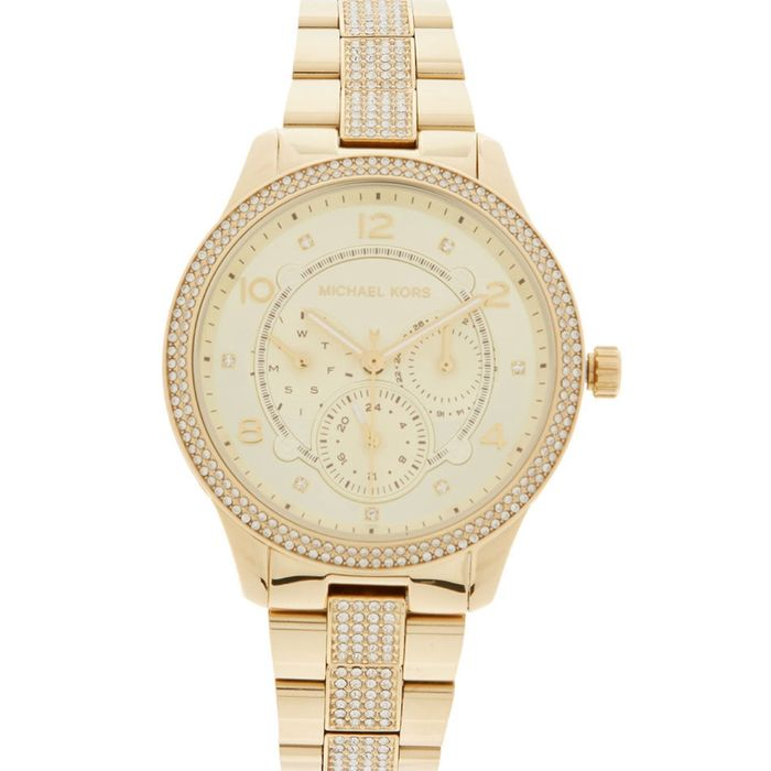 MICHAEL KORS Gold Tone Analogue Watch on Sale From £319 to £129.99