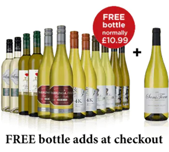 Case of Wine X 12 and £40 off and Free Bottle| Red, White, Ros