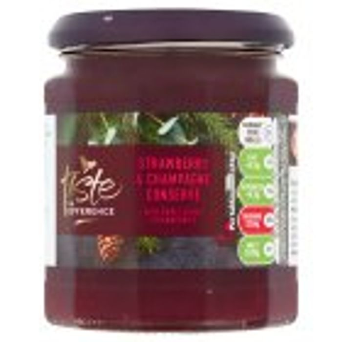 Strawberry & Champagne Conserve with Sweet Senga Strawberries,