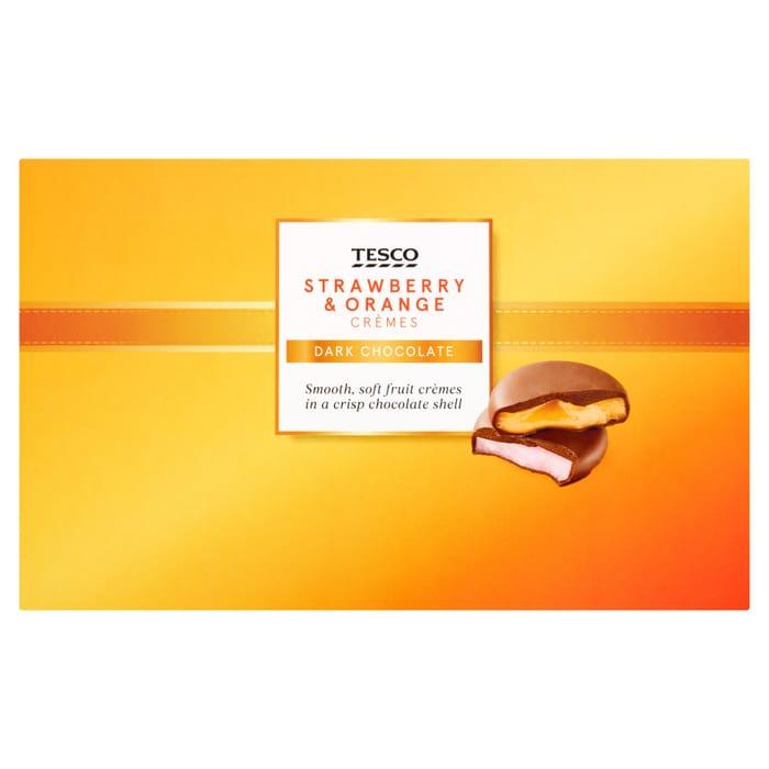 Tesco Strawberry & Orange Creme 100G