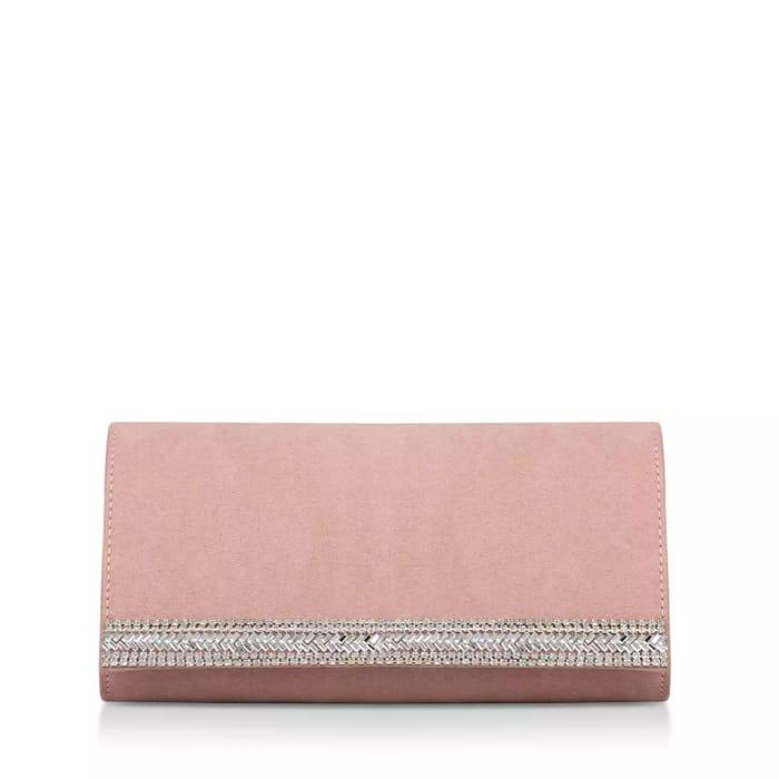 Carvela - Nude 'Gita2' Embellished Clutch Bag