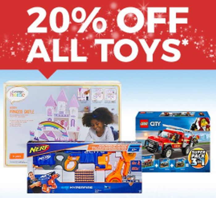 20% off ALL Toys Online and In store + Free C&C At ASDA