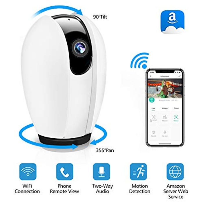 WiFi IP Camera Wireless Security Home Camera with Night Vision