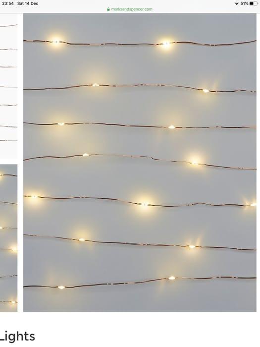 M&S Copper Wire Lights
