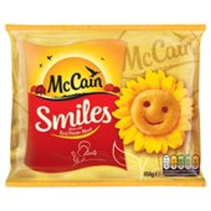 McCains Smiles Was £1.60 Now £1