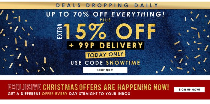 15% off plus 99p Delivery