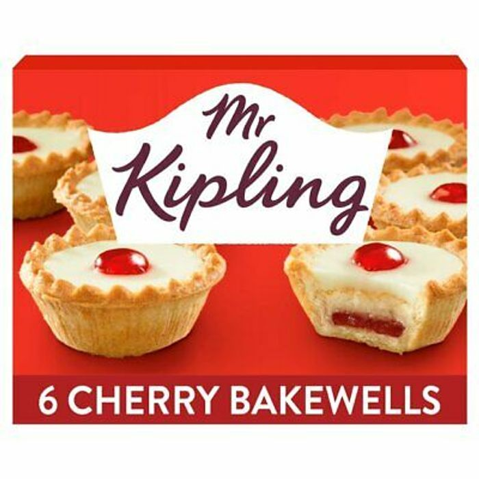 Mr Kipling Cherry Bakewells X6