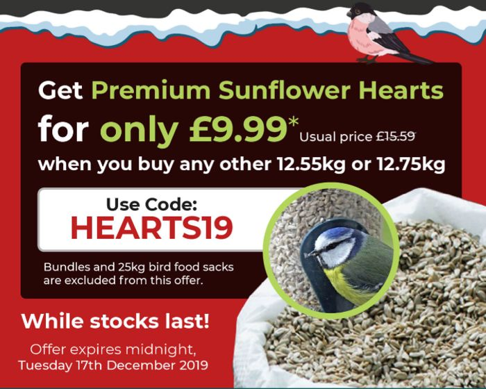 Get Premium Sunflower Seeds for Only £9.99 *When You 12.55 or 12.75kg Sacks