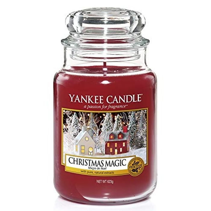 Yankee Candle Large Jar Scented Candle, Christmas Magic