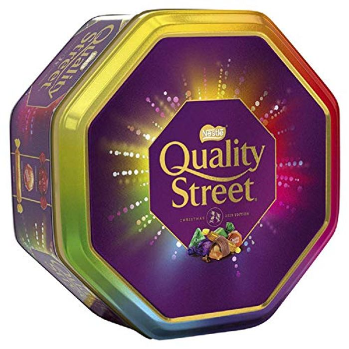 Quality Street Christmas Chocolate Toffee and Cremes Tin, 1 Kg